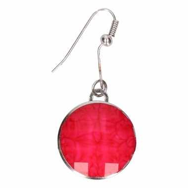 Chunkoorbellen roze steen voor volwassenen