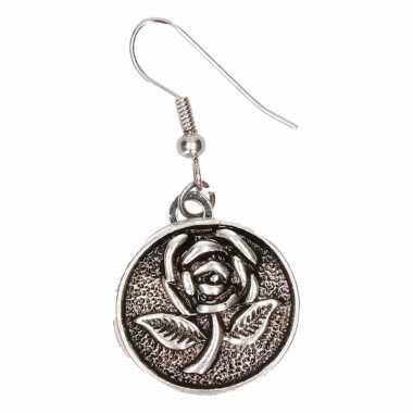 Chunkoorbellen zilveren roos voor volwassenen