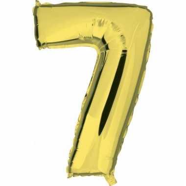 Cijfer ballon in goud 7
