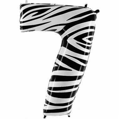 Cijfer ballon in zebra 7