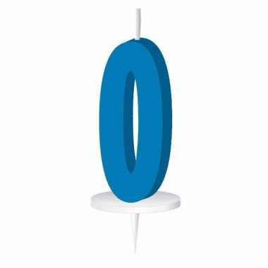 Cijfer kaarsen blauw 0