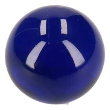 Clown knikker donkerblauw 6 cm
