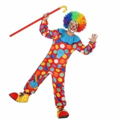 Clowns verkleedkostuum dots voor kinderen
