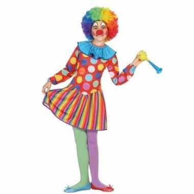 Clowns verkleedkostuum dotty voor meisjes
