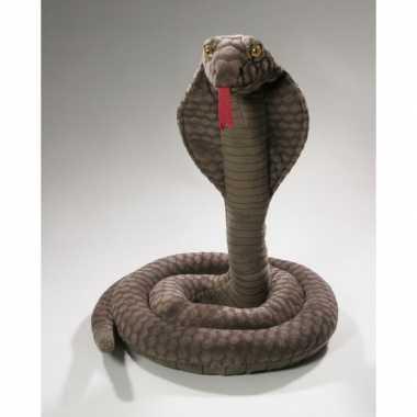 Cobra knuffels grijze 170 cm