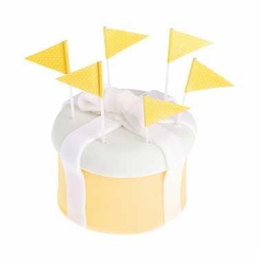 Coctailprikkers geel 25 stuks
