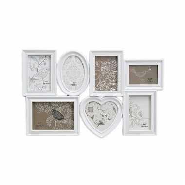 Collage wissellijst romantisch wit 55 x 35 cm