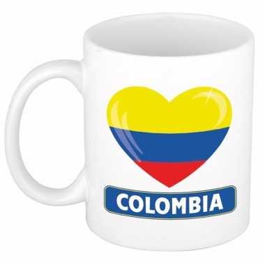 Colombiaanse vlag hart mok / beker 300 ml