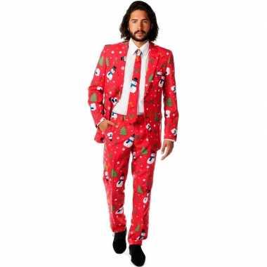 Compleet kostuum met kerst print
