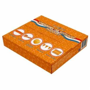 Compleet oranje straatversiering pakket