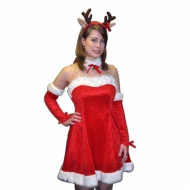 Compleet sexy kerstkostuum rudi voor dames