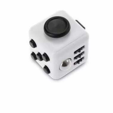 Concentratie fidget cube wit/zwart