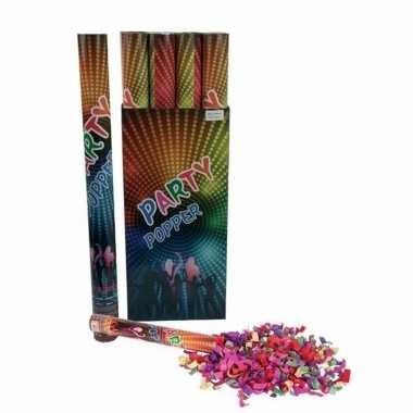 Confetti knaller kleuren 80 cm