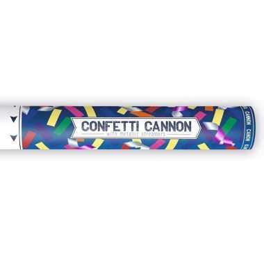 Confetti knaller metallic kleuren 40 cm