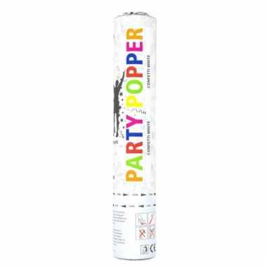 Confetti popper wit 28 cm