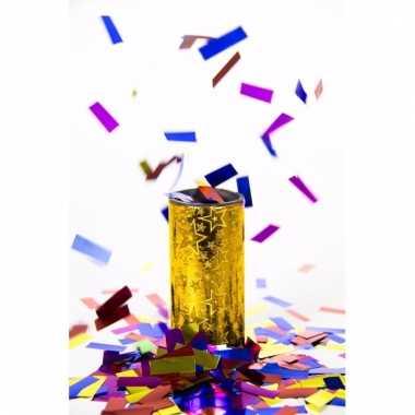 Confetti tafel bom goud