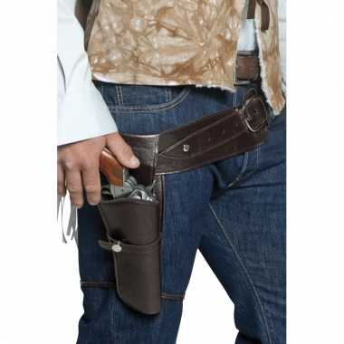 Cowboy holster aan riem