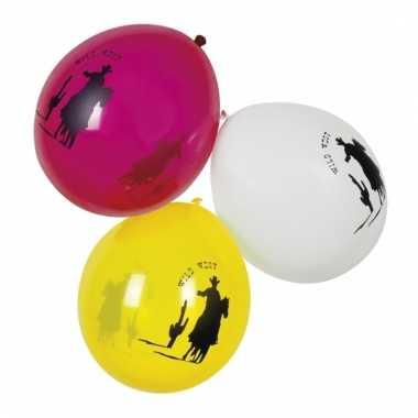 Cowboy thema ballonnen 6 stuks