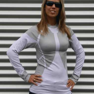 Craft thermo dameskleding wit met grijs