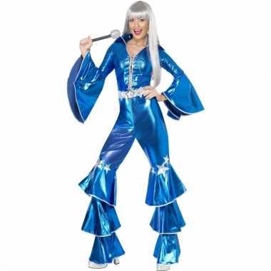Dames disco pak blauw