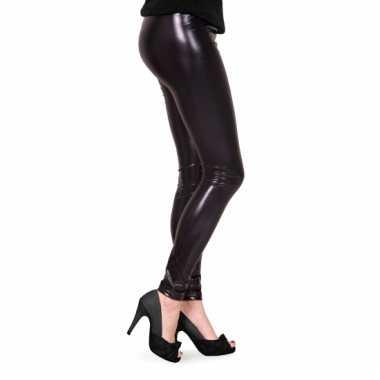 Dames lak legging zwart