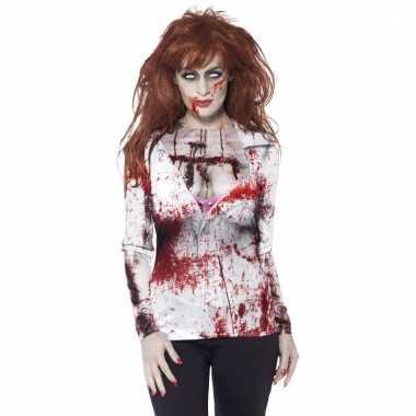 Dames t-shirt met zombie print