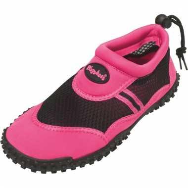 Dames waterschoen roze met trekkoord