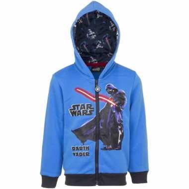 Darth vader sweatshirt voor jongens. blauw