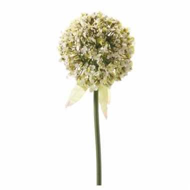 Decoratie kunstbloemen witte daslook / allium 70 cm