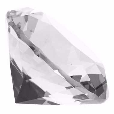 Decoratie namaak diamanten/edelstenen/kristallen transparant 8 cm