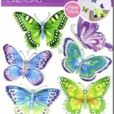 Decoratie vlinders 6 stuks