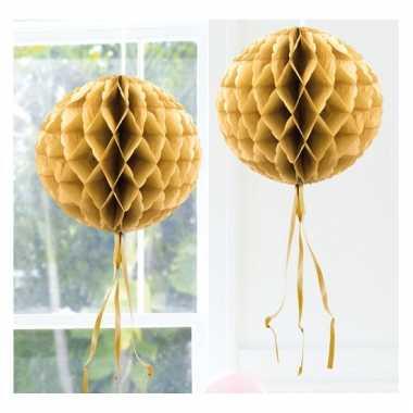 Decoratiebollen goud 30 cm