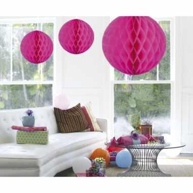 Decoratiebollen magenta roze 50 cm