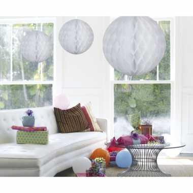Decoratiebollen wit 50 cm