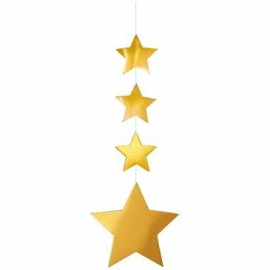 Decoratieslinger gouden sterren 130 cm