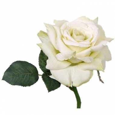 Deluxe roos wit 31 cm