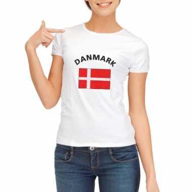 Denemarken vlaggen t-shirt voor dames