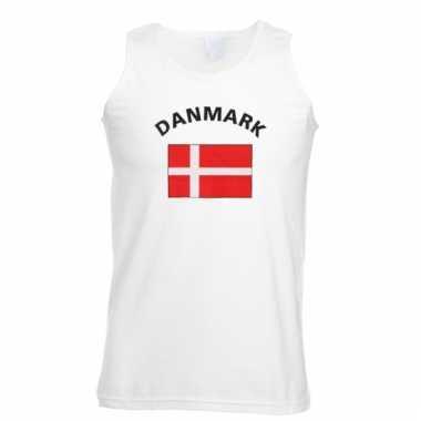 Denemarken vlaggen tanktop/ t-shirt