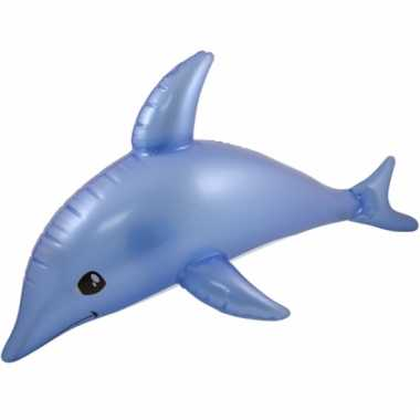 Dieren opblaas speelgoed dolfijn 53 cm