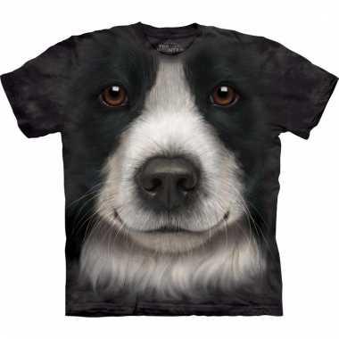 Dieren shirts border collie hond voor volwassenen