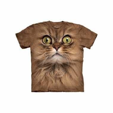 Dieren shirts bruine kat kids
