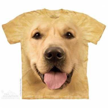 Dieren shirts golden retriever hond voor kinderen