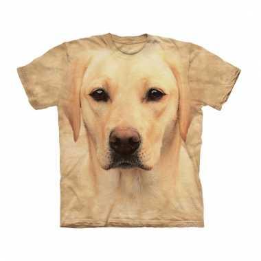 Dieren shirts labrador blond voor volwassenen