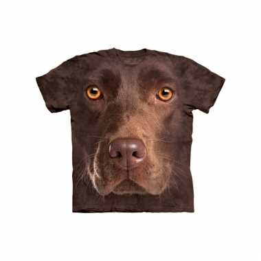 Dieren shirts labrador bruin kids
