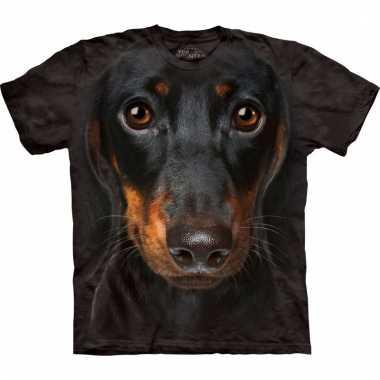 Dieren shirts pincher hond voor volwassenen