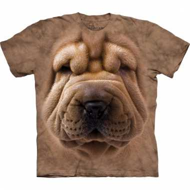 Dieren shirts sharpei bruin