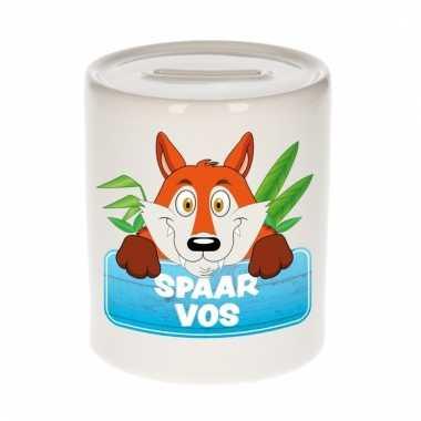 Dieren spaarpot vos 9 cm