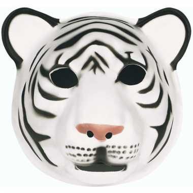 Dierenmaskers witte tijger voor kinderen
