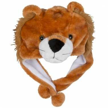 Dierenmuts leeuwtje voor kinderen