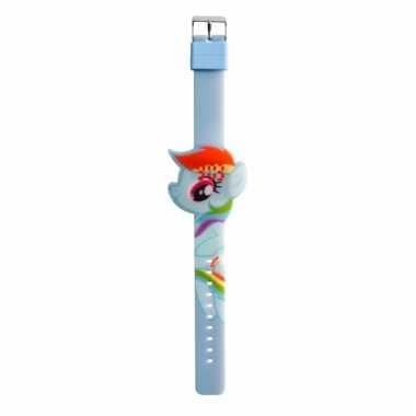 Digitale horloges my little pony blauw/regenboog voor kinderen